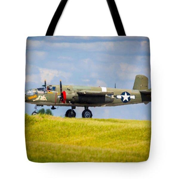 B-25 Landing Original Tote Bag