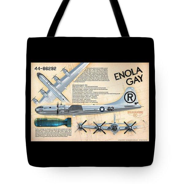 B-29 Enola Gay  Tote Bag by David Collins
