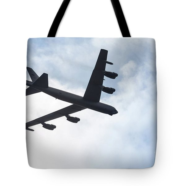 B-52 Flyover Tote Bag by Lawrence Burry