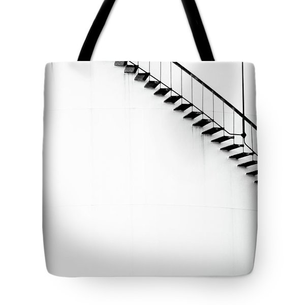 B And W Stairs Tote Bag