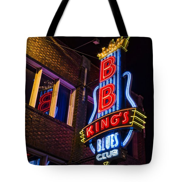 B B Kings On Beale Street Tote Bag