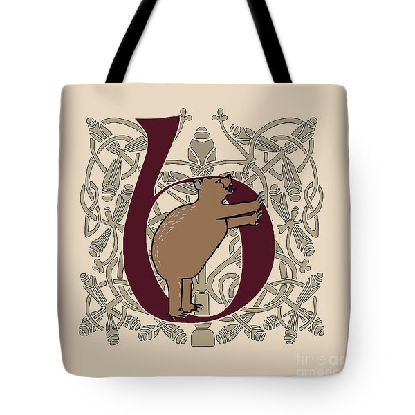 B Is For Bear Tote Bag by Donna Huntriss