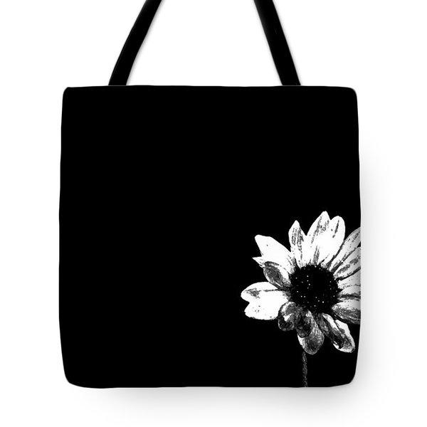 B/w Flower  Tote Bag