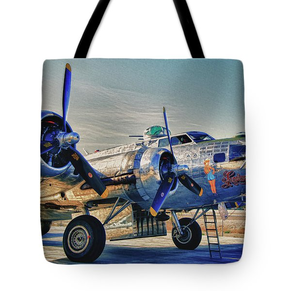 B17 Flying Fortress Sentimental Journey Tote Bag