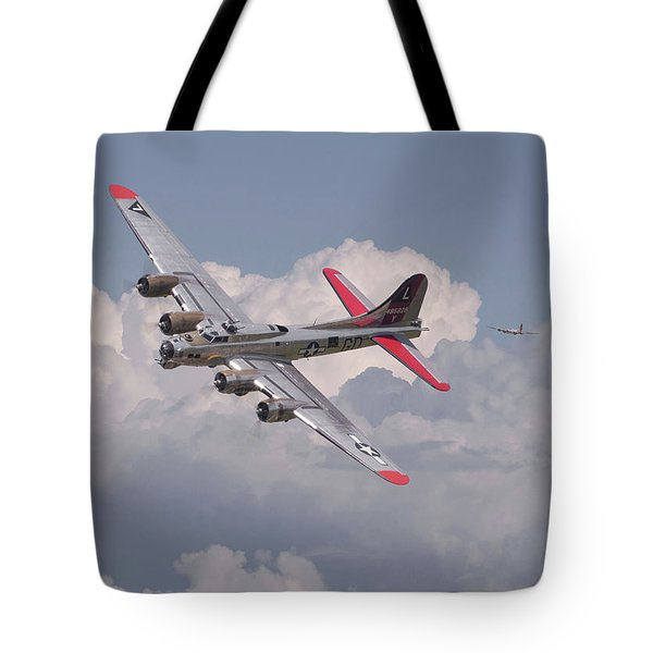 Tote Bag featuring the photograph B17 - The Last Lap by Pat Speirs