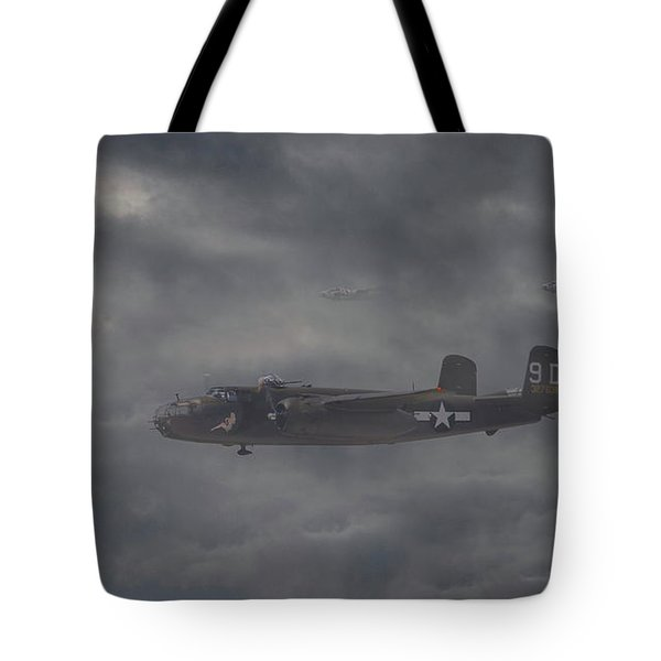 Tote Bag featuring the digital art B25 - 12th Usaaf by Pat Speirs
