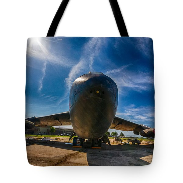 Tote Bag featuring the photograph B52 by Jay Stockhaus