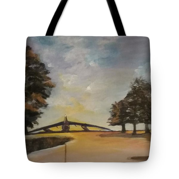 Tote Bag featuring the painting B52 by Saundra Johnson