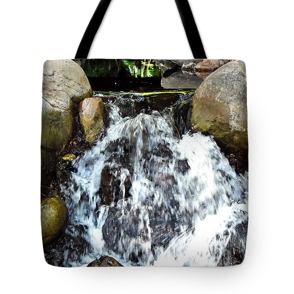 Tote Bag featuring the photograph Babbling Brook 000 by Chris Mercer