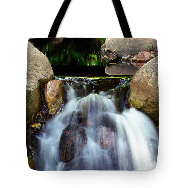 Tote Bag featuring the photograph Babbling Brook 001 by Chris Mercer