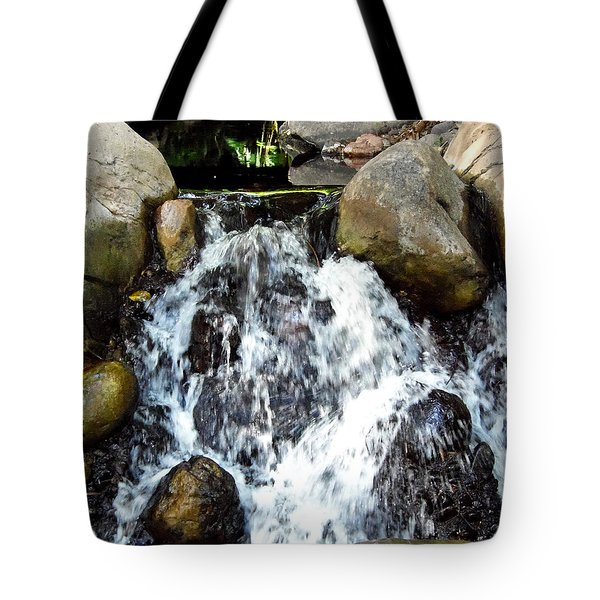 Tote Bag featuring the photograph Babbling Brook  by Chris Mercer