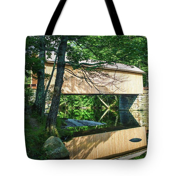 Tote Bag featuring the photograph Babb's Covered Bridge by Guy Whiteley