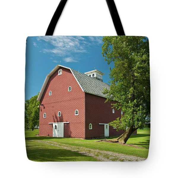 Tote Bag featuring the photograph Babcock Barn 2259 by Guy Whiteley