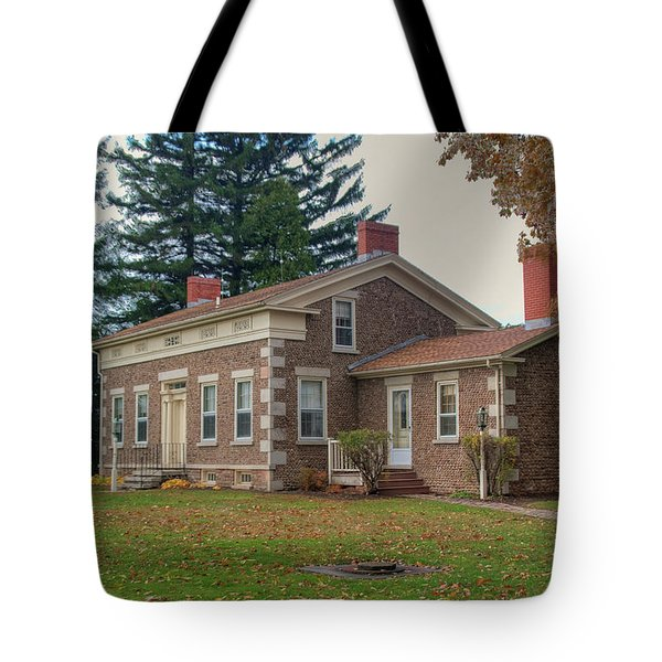 Tote Bag featuring the photograph Babcock House Autumn 13937 by Guy Whiteley
