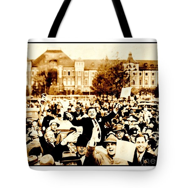 Tote Bag featuring the photograph Babe Ruth 1934 Japan Tour by Peter Gumaer Ogden Collection