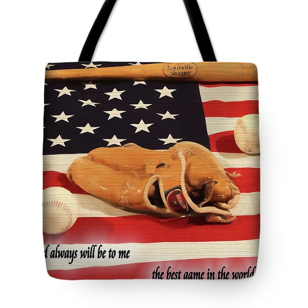 Babe Ruth Baseball Quote Tote Bag by Dan Sproul