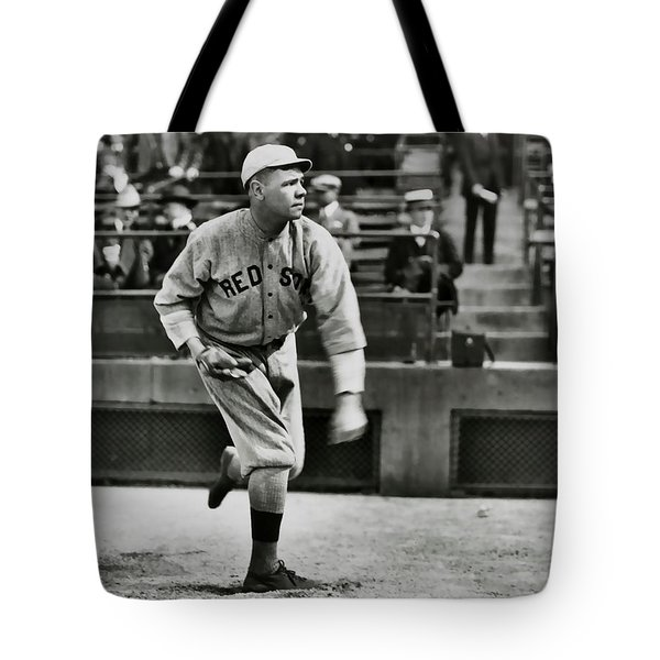 Babe Ruth - Pitcher Boston Red Sox  1915 Tote Bag by Daniel Hagerman