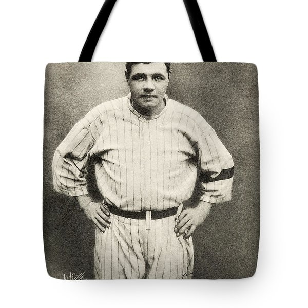 Babe Ruth Portrait Tote Bag