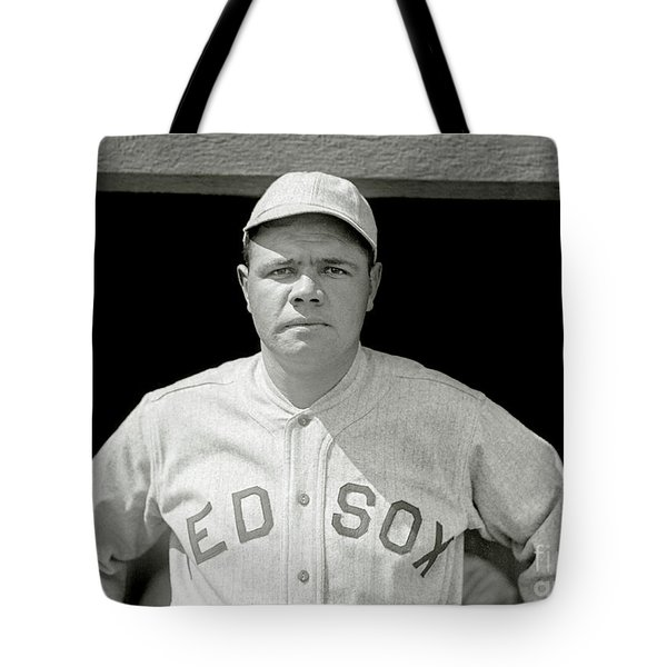 Babe Ruth Red Sox Tote Bag by Jon Neidert