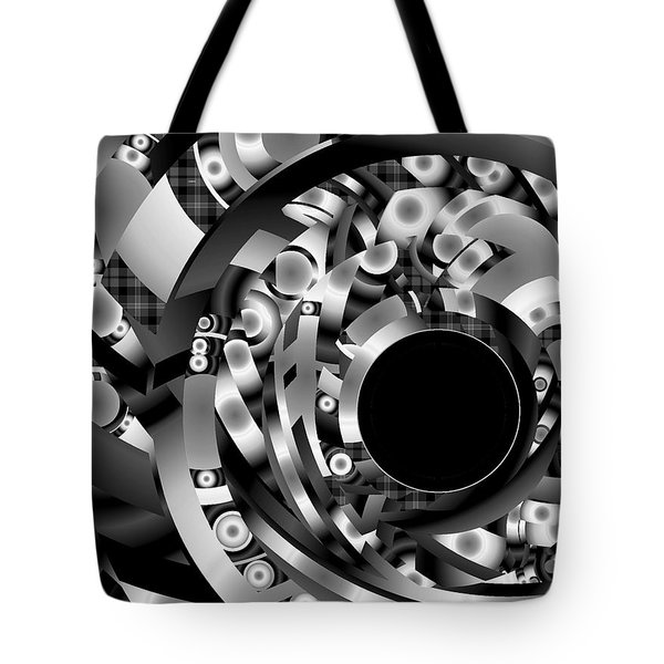 Tote Bag featuring the digital art Babel by Lynda Lehmann