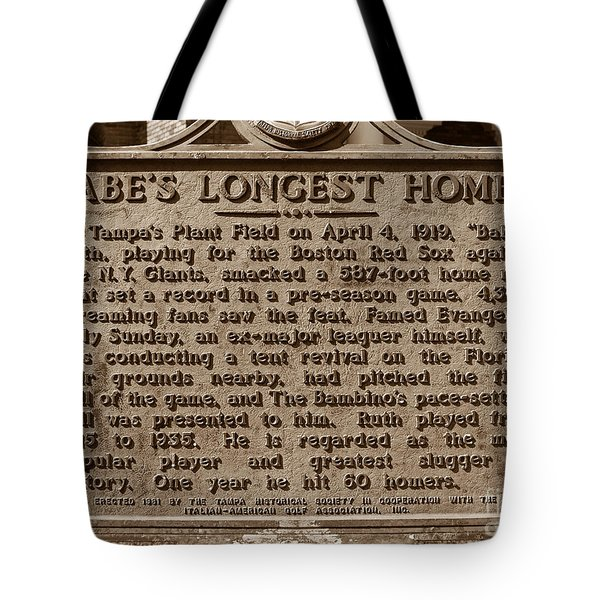 Babes Longest Homer Tote Bag by David Lee Thompson