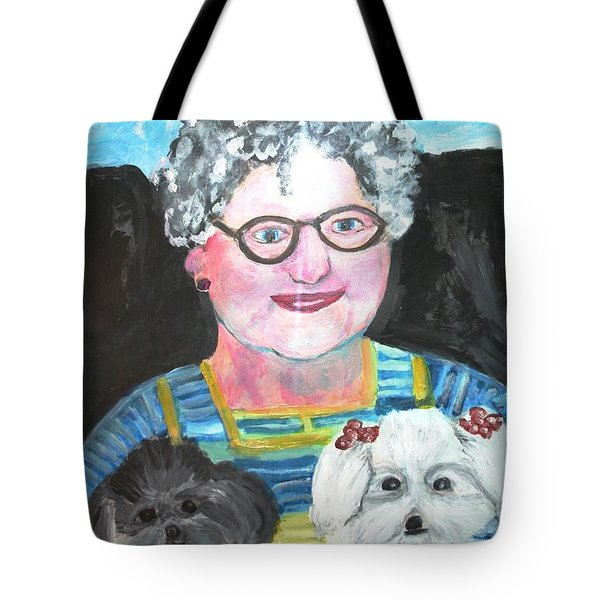 Babka, Puppies Tote Bag