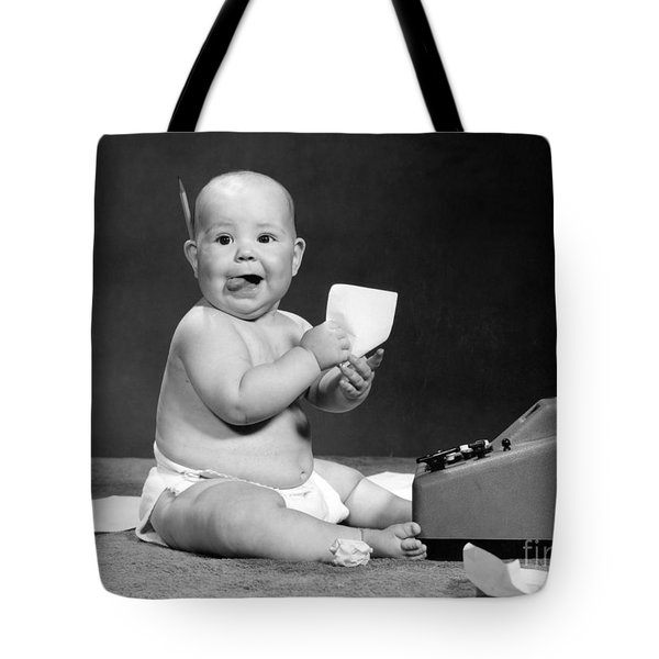 Baby Accountant, 1960s Tote Bag