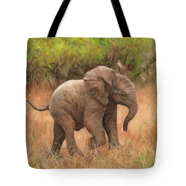 Baby African Elelphant Tote Bag