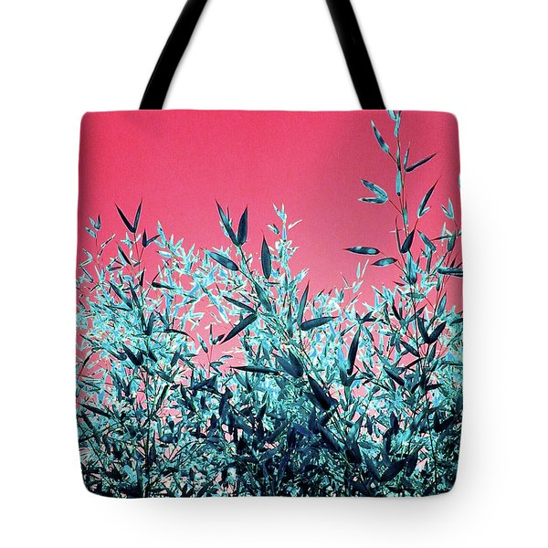 Baby Bamboo - Deep Pink And Blue Tote Bag