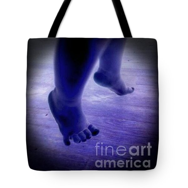 Baby Blu Dancing Royal Feet Tote Bag