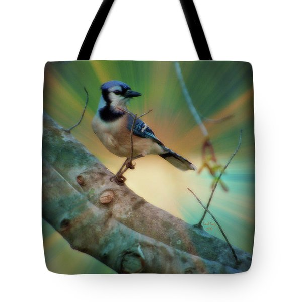 Baby Blue Tote Bag by Trish Tritz