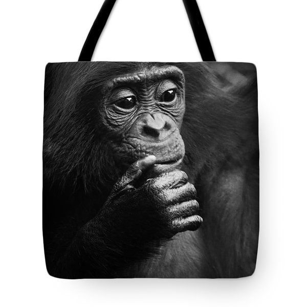 Tote Bag featuring the photograph Baby Bonobo by Helga Koehrer-Wagner
