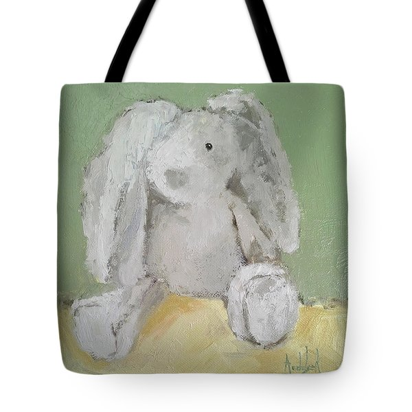 Baby Bunny Tote Bag by Barbara Andolsek