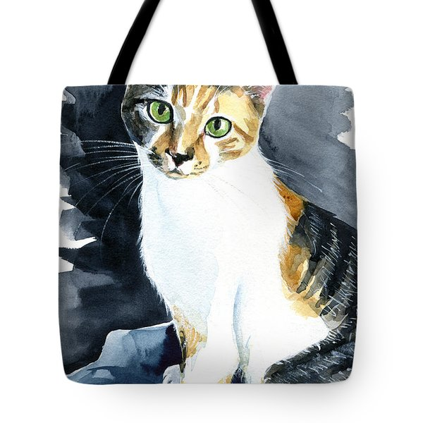 Baby - Calico Cat Painting Tote Bag