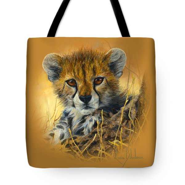 Baby Cheetah  Tote Bag by Lucie Bilodeau