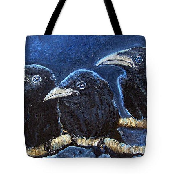 Baby Crows Tote Bag
