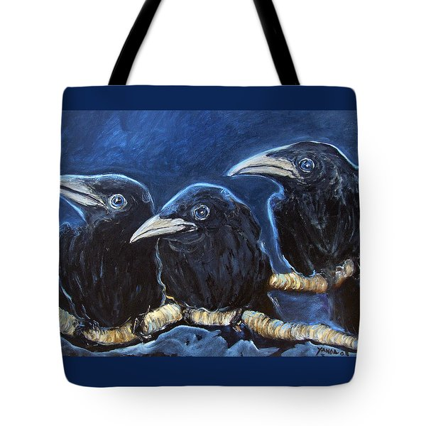 Baby Crows Tote Bag