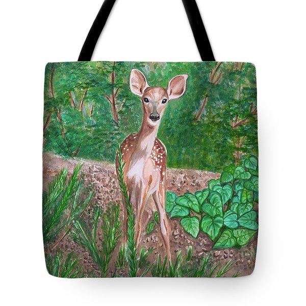 Baby Deer Tote Bag