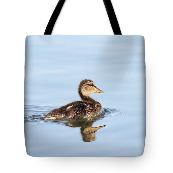 Tote Bag featuring the photograph Baby Duckling by Jackson Pearson