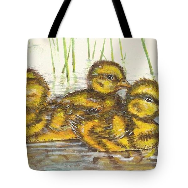 Baby Ducks For Ma Tote Bag