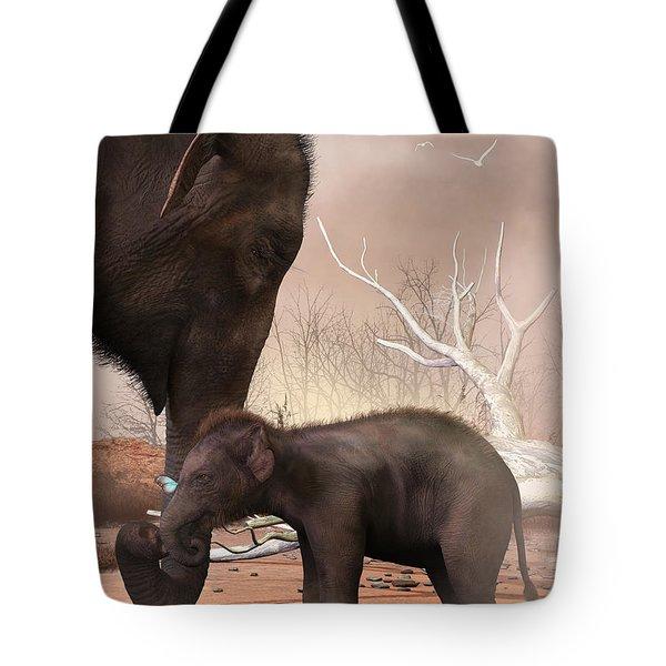 Baby Elephant Tote Bag