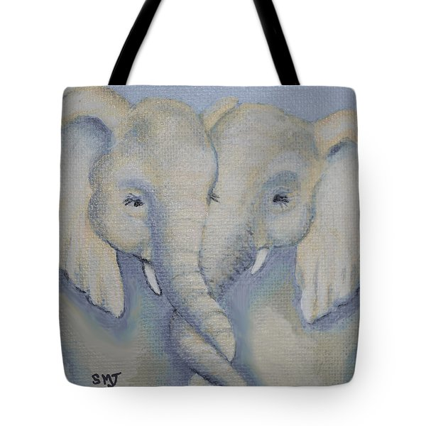 Baby Elephant Friends Tote Bag