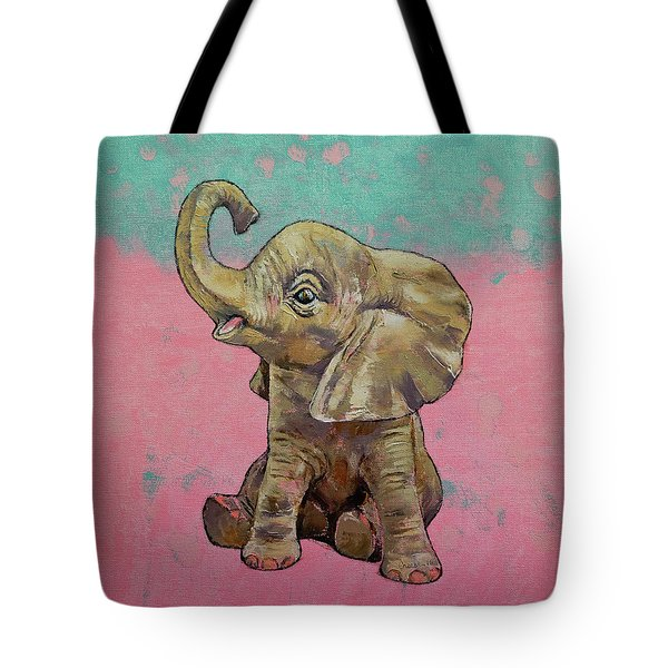 Baby Elephant Tote Bag by Michael Creese