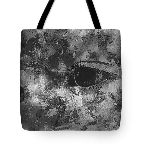 Baby Eyes, Black And White Tote Bag