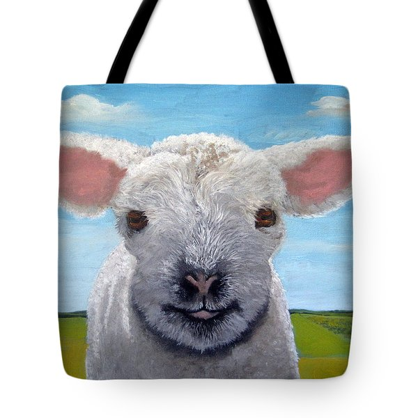 Baby Farm Lamb Sheep  Tote Bag