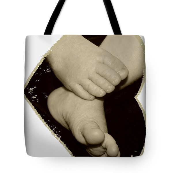 Baby Feet Tote Bag by Ellen O'Reilly