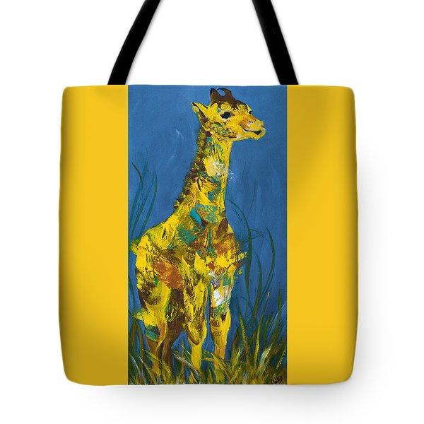 Baby Giraffe  Tote Bag by Catherine Jeltes