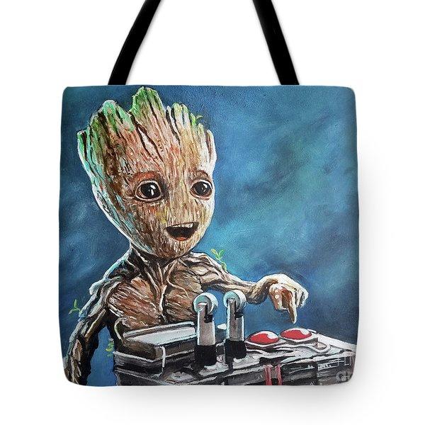 Baby Groot Tote Bag by Tom Carlton