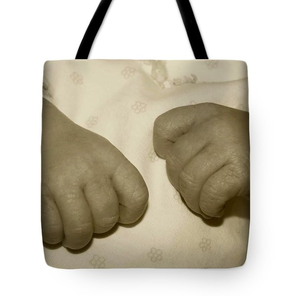 Baby Hands Tote Bag by Ellen O'Reilly