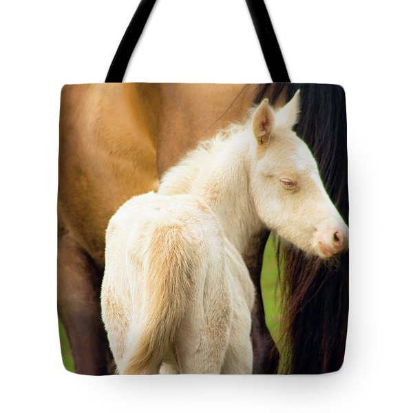 Baby Horse By Mom Tote Bag